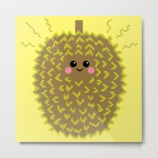 Happy Pixel Durian Metal Print