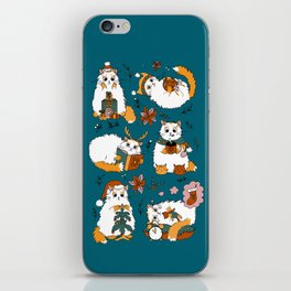 Christmas cats iPhone Skin