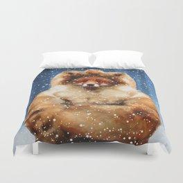 Fox frozen Duvet Cover