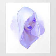 visage - lilac Art Print