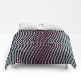 OpArt WaveLines 1 Comforters