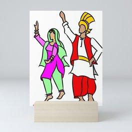 Punjabi couple 1 Mini Art Print