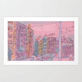 Budapest through pencil II. Art Print