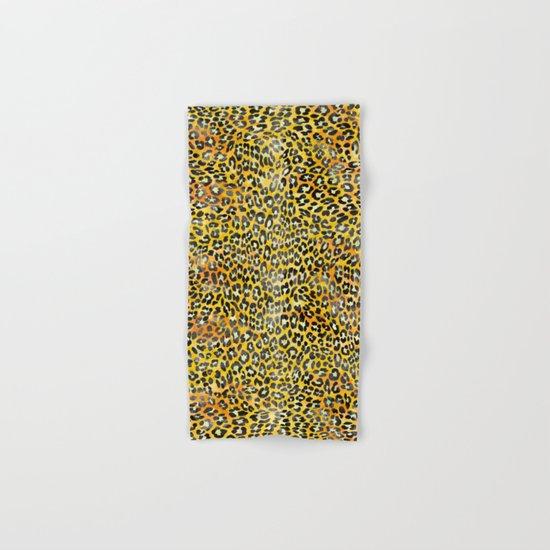 Yellow Leopard Print Hand & Bath Towel