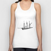 ship Tank Tops featuring Ship by GalaArt