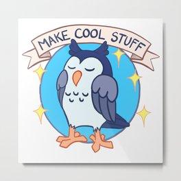 Make Cool Stuff owl emblem Metal Print