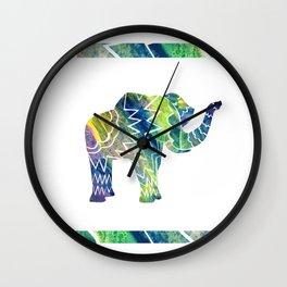 Patchwork Elephant Wall Clock