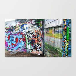 Mauerpark Graffiti Artwork Berlin Canvas Print