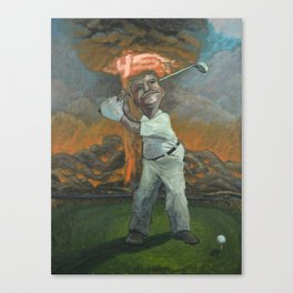 Golfin with Donny Canvas Print