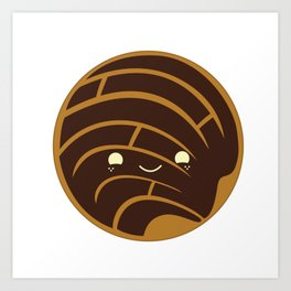 Chocolate Concha Pan Dulce (Mexican Sweet Bread) Art Print