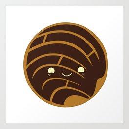 Chocolate Concha Pan Dulce (Mexican Sweet Bread) Art Print