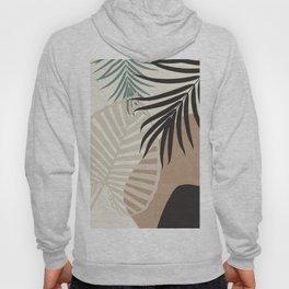 Minimal Tropical Palm Leaf Finesse #1 #tropical #decor #art #society6 Hoody