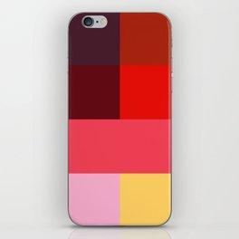 Chromatic squares iPhone Skin