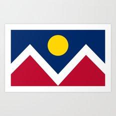 Denver (Colorado) city flag - Authentic version Art Print