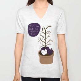 Kathryn and her Haunted Tree Unisex V-Neck