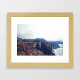 beautiful landscape at Bixby bridge, Big Sur, California, USA Framed Art Print