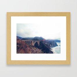 beautiful landscape at Bixby bridge, Big Sur, California, USA Framed Art Print
