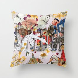 The spider is still alive. Throw Pillow