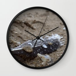 Sand Rain Drop on Feather Wall Clock