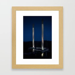 Omaha Pedestrian Bridge Framed Art Print