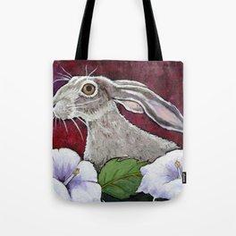 Moonflower Jackrabbit Tote Bag