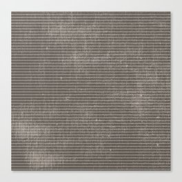Vintage pastel brown abstract geometrical stripes Canvas Print