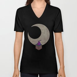 Look At The Moon Unisex V-Neck