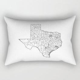 Texas White Map Rectangular Pillow