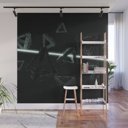 Space Triangles Wall Mural