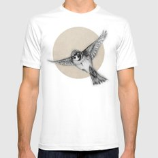 Aviation MEDIUM White Mens Fitted Tee