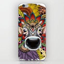 TRIBAL COW iPhone Skin