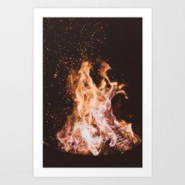 Fire I - Summer Campfire Art Print