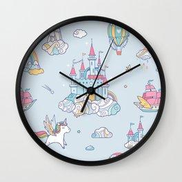 Magic Cloud Castle Wall Clock