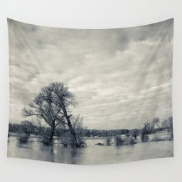 lean on me - flooded meadows Wall Tapestry