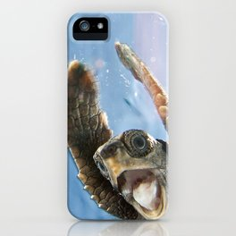 Screaming Turtle iPhone Case