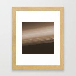Sepia Brown Ombre Framed Art Print