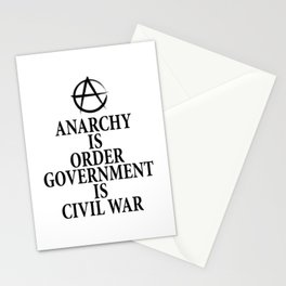 Anarchy quote Stationery Cards