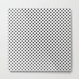 Small Black Crosses on White Metal Print