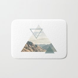 Mountain with Shapes Bath Mat