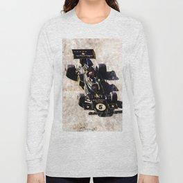 Emerson Fittipaldi on Lotus Long Sleeve T-shirt