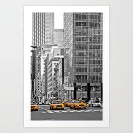 NYC - Yellow Cabs - Police Car Art Print