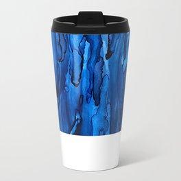 Blue Rain Metal Travel Mug