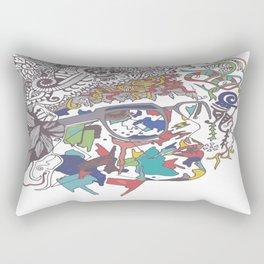 A Woman Rectangular Pillow