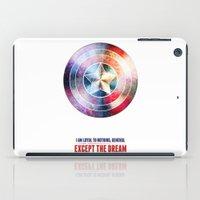 avenger iPad Cases featuring The first avenger by Julien Kaltnecker