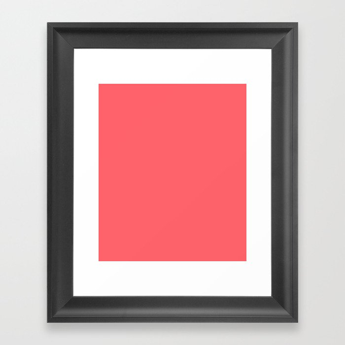 Coral Red Framed Art Print