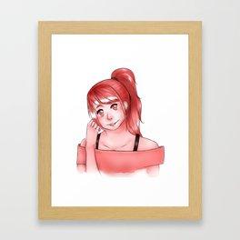 Pink pallet girl Framed Art Print