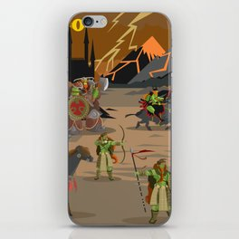 evil orcs in the castle valley iPhone Skin