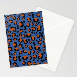 Jungle - Leopard Pattern Blue Stationery Cards