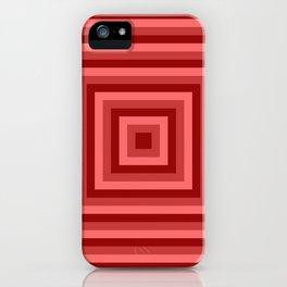 Red Squares iPhone Case