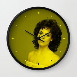 Sigourney Weaver - Celebrity (Florescent Color Technique) Wall Clock